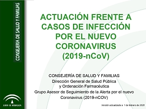 ACTUACIÓN FRENTE A CASOS DE INFECCIÓN POR EL CORONAVIRUS