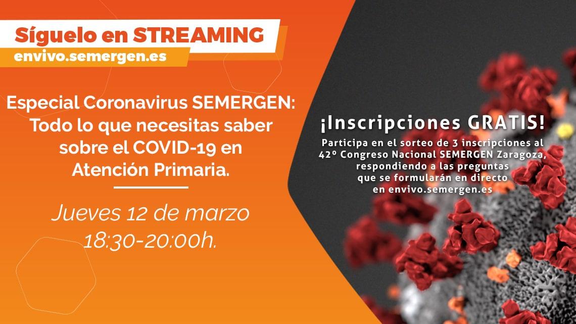 SESION INFORMATIVA POR STREAMING SOBRE EL COVID-19 CORONAVIRUS