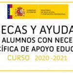 ¿Cómo solicitar la BECA MEC para alumnos con Necesidades Específicas de Apoyo Educativo (curso 2020-2021)?  ¡Te orientamos!